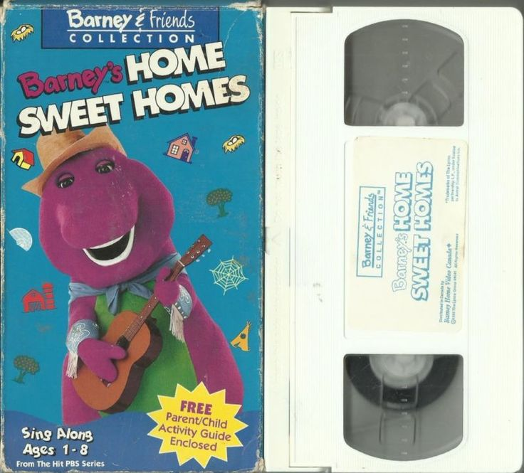 Barney's Home Sweet Homes (VHS,1993) Barney & Friends Collection RARE HTF in…