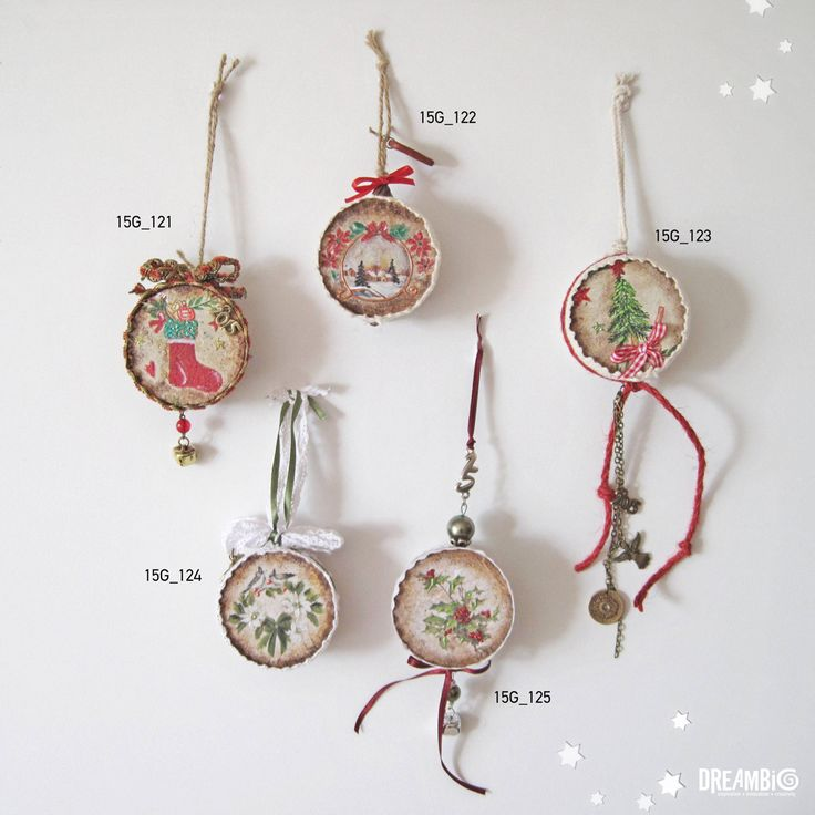 Christmas ornaments -with cork