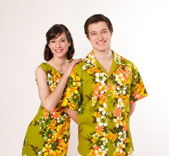 60s Matching Hawaiian Outfits