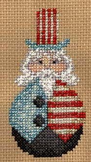 Uncle Sam Cross Stitch.  Giving a program I have a try.  Take a picture of a completed project.  It will print out a pattern.
