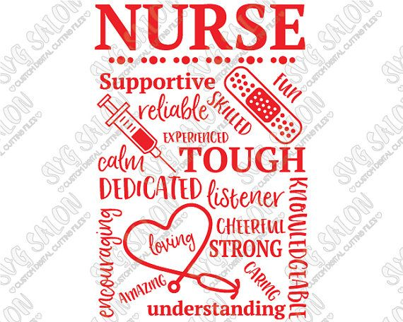 Nurse Appreciation Gift Word Art Custom Diy Vinyl Sign By