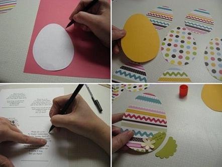 открытка в форме яйца 1