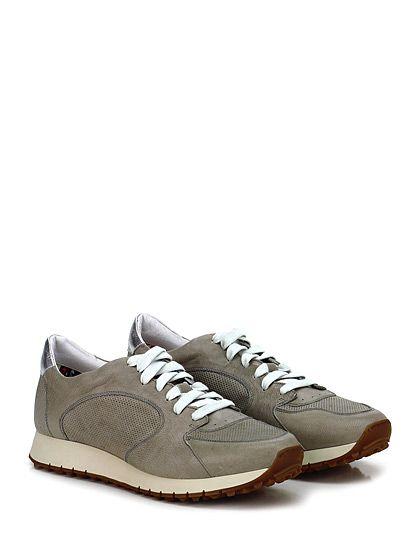BARRACUDA - Sneakers - Uomo - Sneaker in pelle e pelle laminata con suola in gomma, tacco 30, platform 20 con battuta 10. - TAUPE\SILVER - € 235.00