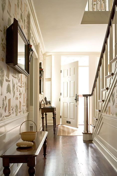 lovely foyer  Nantucket...traditional Federal style: Idea, Entry Ways, Living Room, House, Homes, Design, Foyer Fabulosity, Entryway