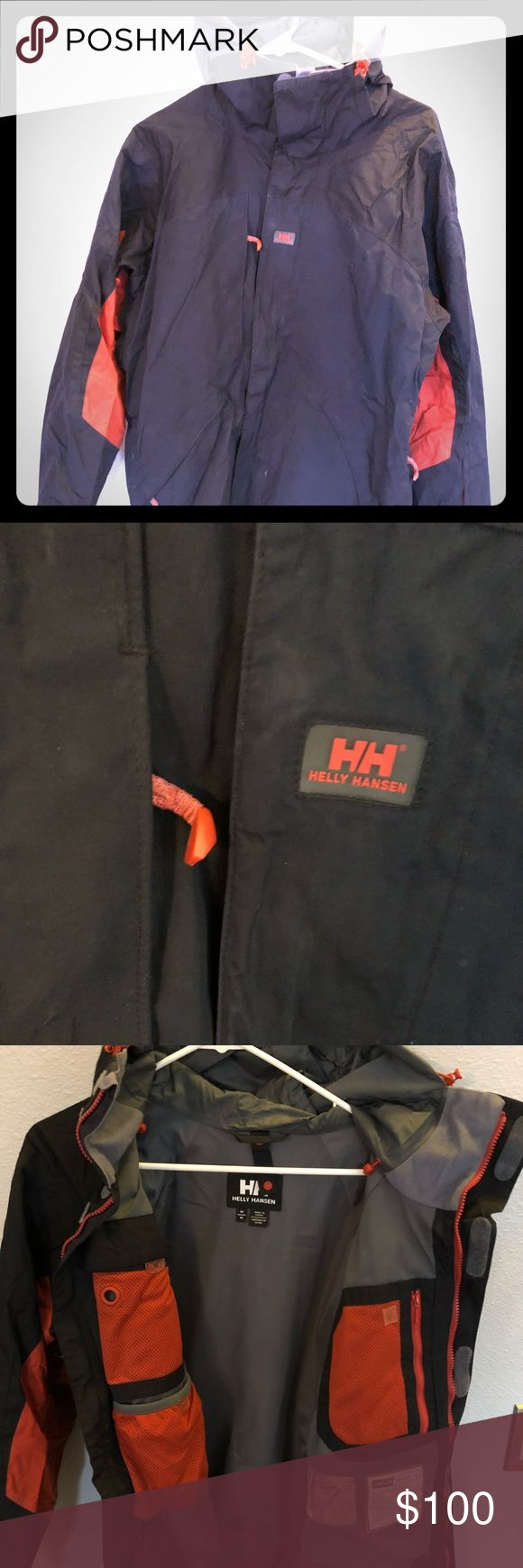 Helly Hansen ski jacket with powder skirt. Used Helly Hansen ski jacket. In excellent condition. Will wash with technical wash before shipment. Helly Hansen Jackets & Coats Ski & Snowboard