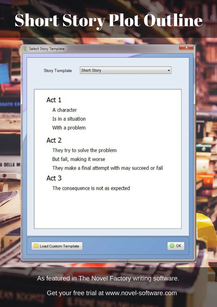 Short Story Plot Outline - as featured in the Novel Factory writers' software.