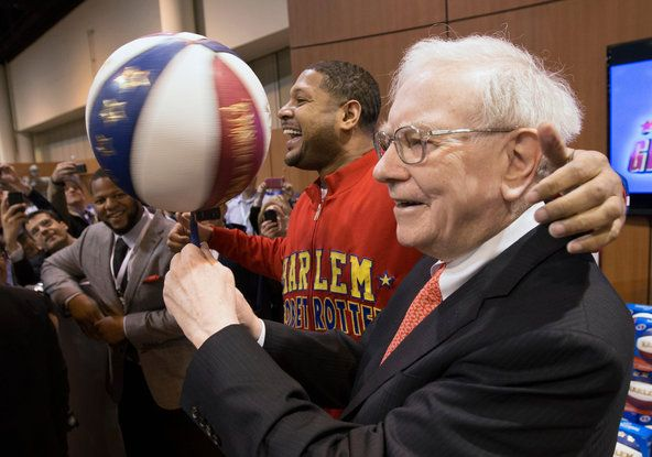 """""""It's going to be fun,"""" said Warren Buffett, pictured in 2013, of a contest that has a very small, almost nonexistent, chance of costing him... earning.blogs.nytimes.com/2014/03/19/busting-the-brackets-mathematics-and-the-n-c-a-a-tournament/?emc=edit_ln_20140320&nl=learning&nlid=68478224"""
