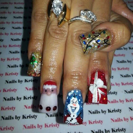 Hand Painted Christmas Nail Art: 1000+ Images About Nails By Kristy On Pinterest