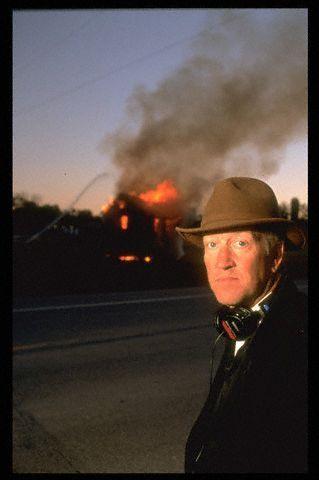David Lynch en el set de Carretera Perdida