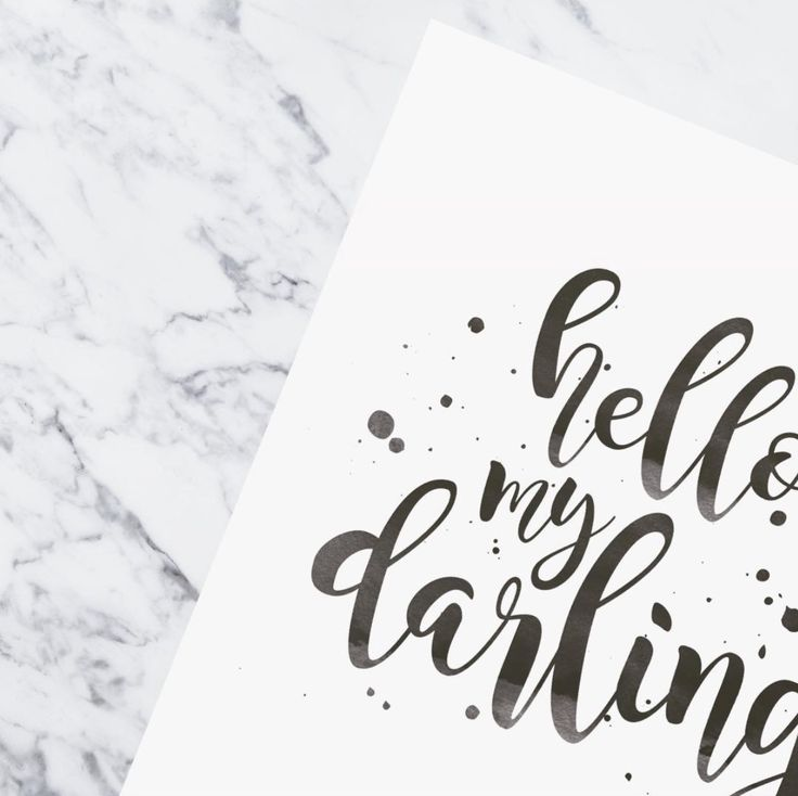 Hello my darling | Art print | Paper goods | Ginny & Jane