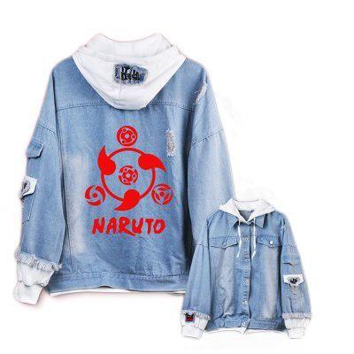 Jacket Anime Naruto  Men Women Hoodies Cosplay Costume Plus size Uniform single ... 2