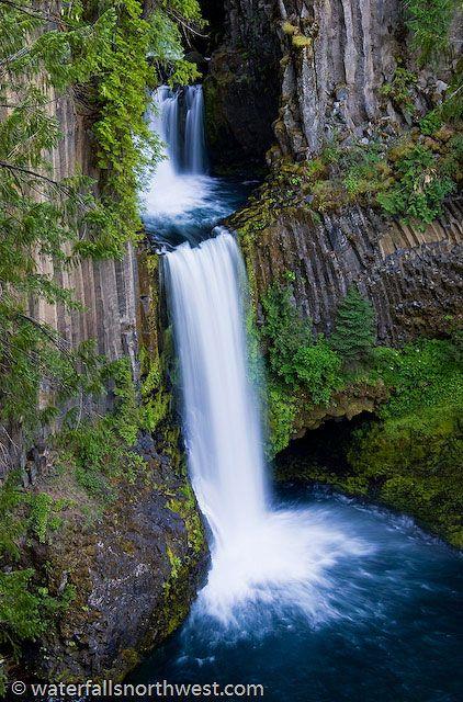 Toketee Falls (hwy 138, OR).  1/3 mile trail to falls, cool hike, kiddo friendly, (feel a like like an Ewok :),