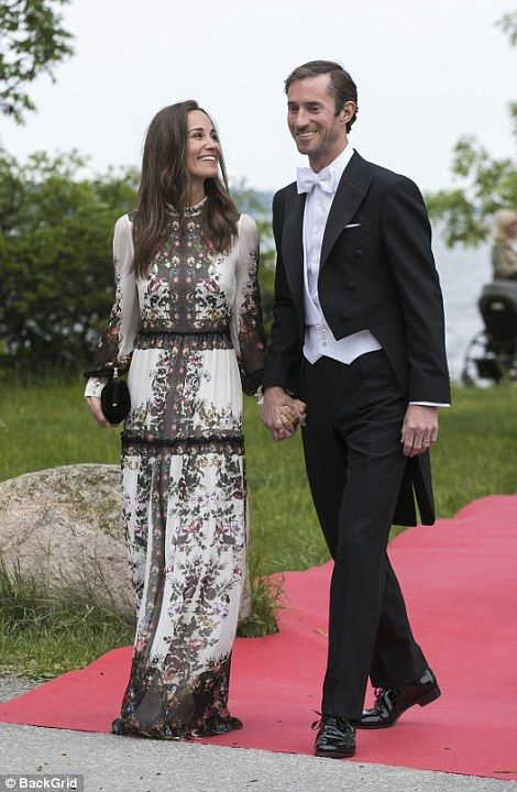 After a whirlwind honeymoon James and Pippa (pictured) touched down in Stockholm to enjoy the elegant wedding of Swedish entrepeneur, and friend, Jöns Bartholdson.