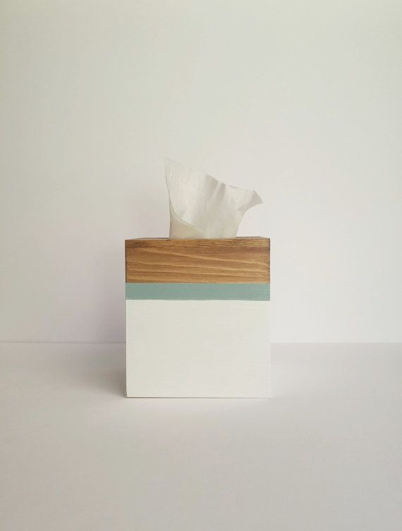 Tissue box cover Tissue box Kleenex box Wooden by CottageWall