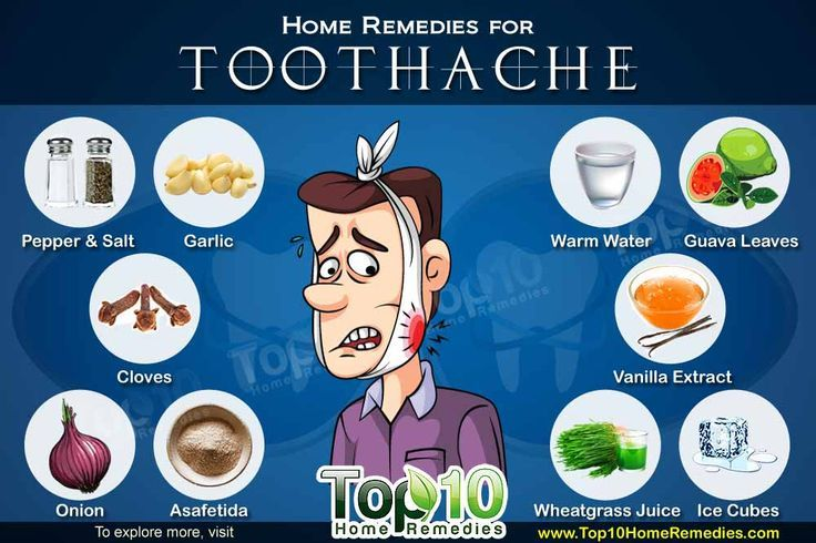 Some of the best home remedies that offer immediate relief from the severe pain caused by toothache. These cures work instantly to treat your tooth pain.   I tried the saltwater, the onion, and the cloves. The one that worked best for me was the cloves. Ground cloves with olive oil to make a paste. Used a cotton ball dipped in and placed next to the tooth. Within an hour all the pain was gone. Left in so i could sleep. Worked excellent!
