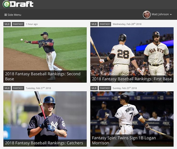 Now on eDraft.com  #MLB #fantasybaseball position rankings #baseball #fantasyrankings #mlbfancave #Yankees #BlueJays #RedSox #Orioles #SFGiants #Diamondbacks #Dodgers #Rockies #Cardinals #Padres #Reds #Brewers #Twins #WhiteSox #Cubs #Marlins #Royals #Braves #Phillies #writersofinstagram #writing #SDSU #SanDiego
