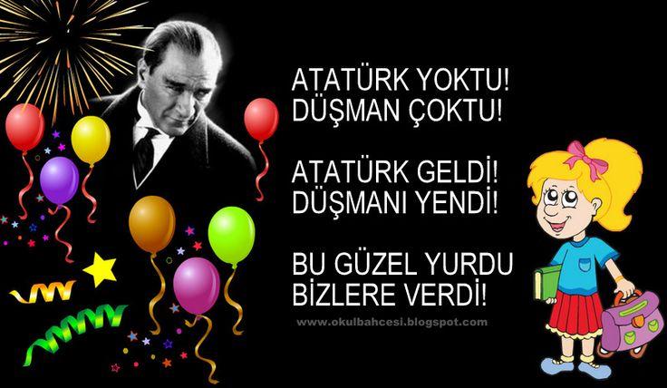 #tekerleme #atatürk #10kasım #ilkokul#okulöncesi https://www.facebook.com/Okul-Bah%C3%A7esi-965104983549838/timeline/