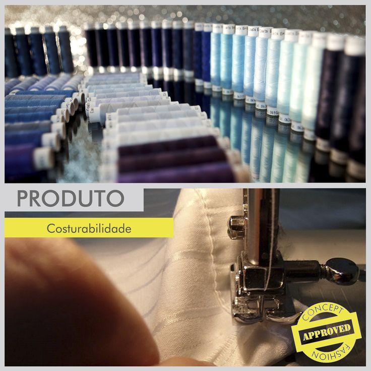 É muito importante a escolha de materiais, maquinas e tipos de costura adequados ao tecido e ao tipo de peça que será confeccionada para que não apareçam problemas de costurabilidade durante o processo. A espessura, a gramatura e, principalmente, a composição do tecido são fatores determinantes nessa escolha. Fique de olho! #concept #conceptfashion #concept_textil #fashion #textile #tecido #moda #cuidados #qualidade #costura #confecção