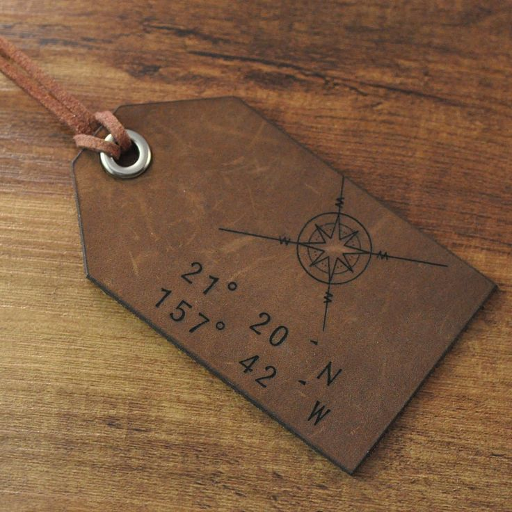 56 best Luggage Tags images on Pinterest | Leather luggage tags ...