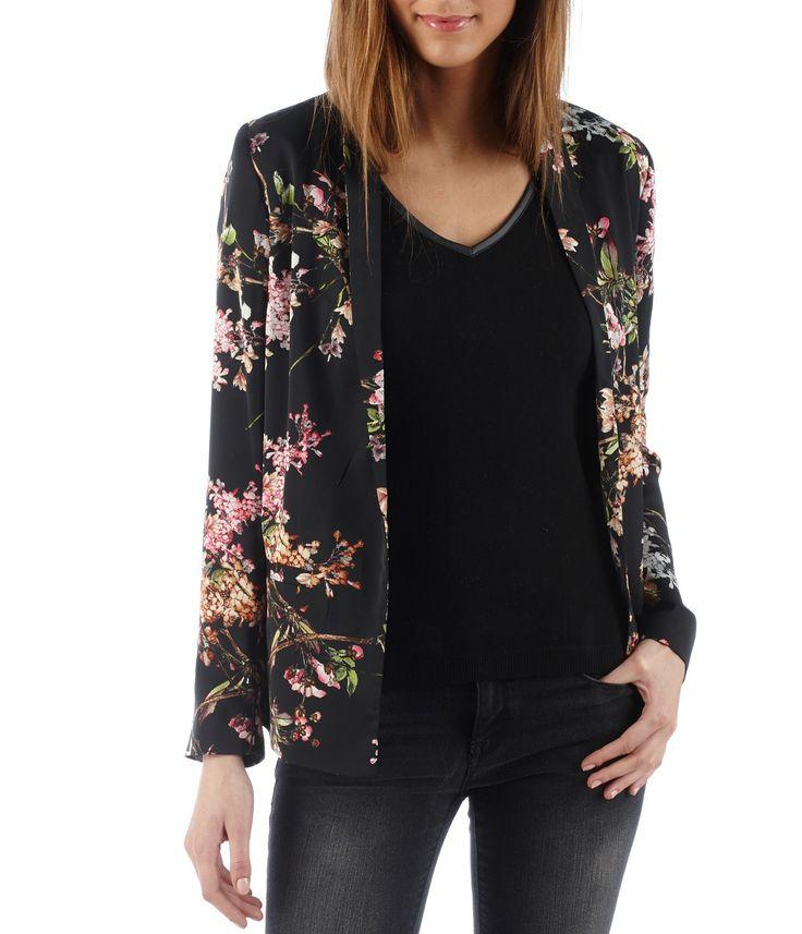 Veste femme motif fleurs