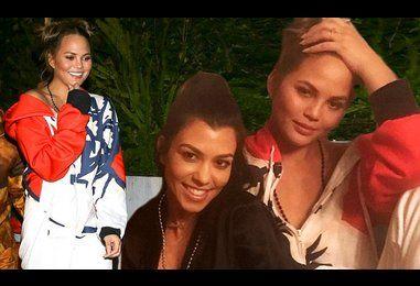 Kourtney Kardashian has a night in with John Legend and Chrissy Teigen