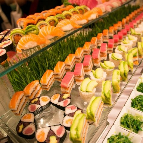 Sushi Catering | Artful Weddings by Sachs Photography | Theknot.com