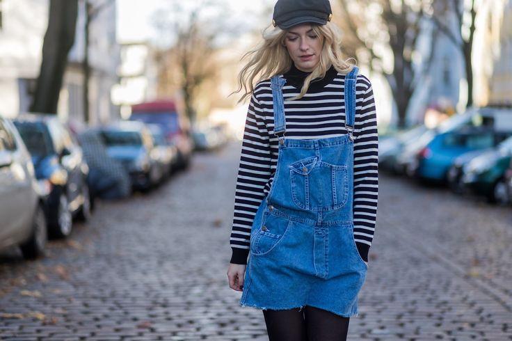 Outfit: Maritime Streifen und Latzkleid