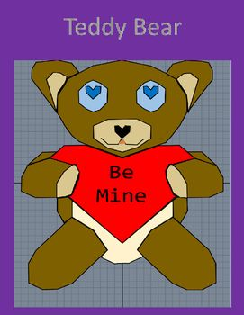 Geometry Transformations Project:The goal of this project is for students to practice the following transformations while creating a teddy bear on a coordinate grid. Translations Reflections==================================================Related Items: Geometry Worksheet: Translations Geometry Worksheet: Reflections Geometry Worksheet: Dilations Geometry Worksheet: Rotations Geometry Worksheet: Dilations and Scale Factor Geometry Worksheet: Composition of Transformations Geometry Cheat…