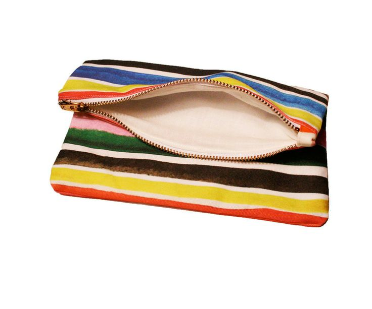 pop striped striped zipper twill clutch zipper clutch printed allover ...