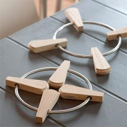 Solid Teak And Stainless Steel Trivet - Design: Designit, Denmark ...