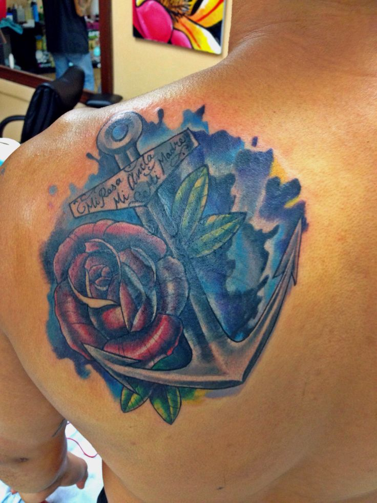 Rose Amp Anchor Tattoo Cover Up Quot My Rose My Anchor My