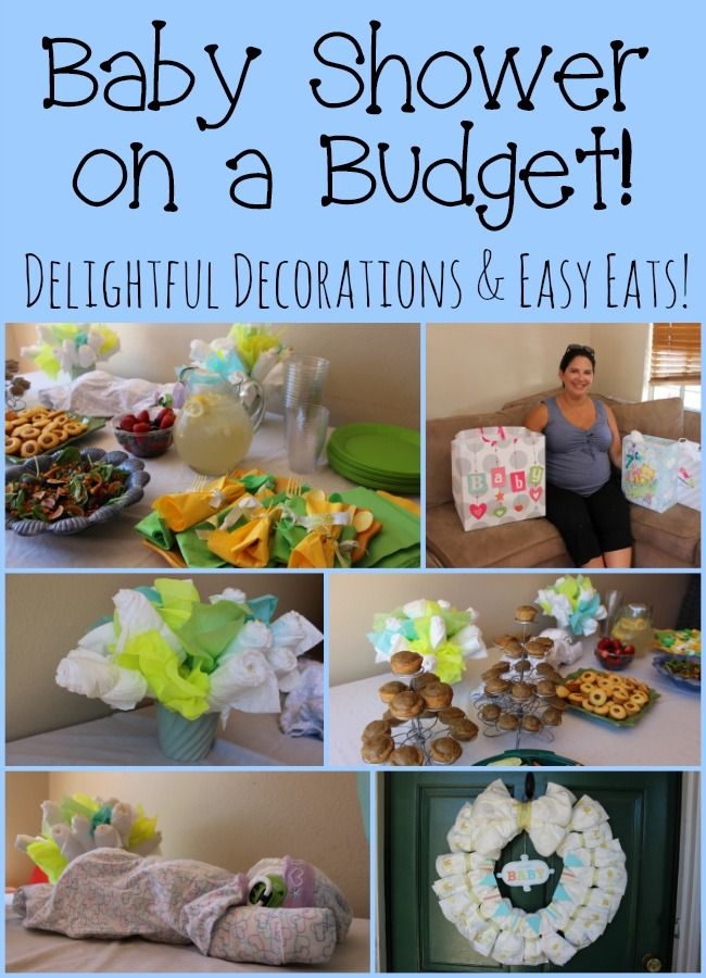 Creating A Baby Shower On A Budget With Affordable Diaper Decorations And Easy  Foods! #