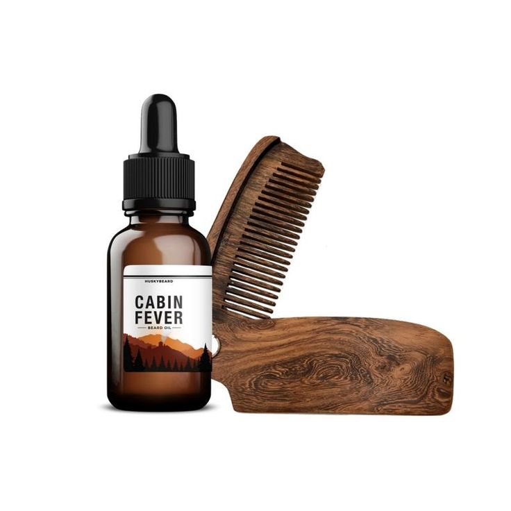 The Beardsman Set - Sandalwood Beard Comb & Beard Oil Kit