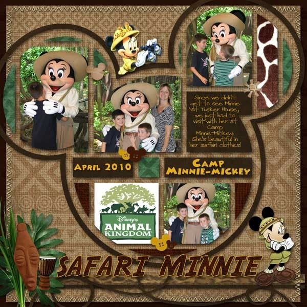 Google Image Result for http://img.photobucket.com/albums/v196/LindaMom/MJAJ%2520Designs%2520Blog/WDW0410-AKMinnieWEB.jpgDisney Collage, Scrapbook Ideas, Mickey Head, Scrapbook Disney, Disney Scrapbook Layout, Scrapbook Pages Layout, Travel Scrapbook, Disney Layout, Safari Minnie