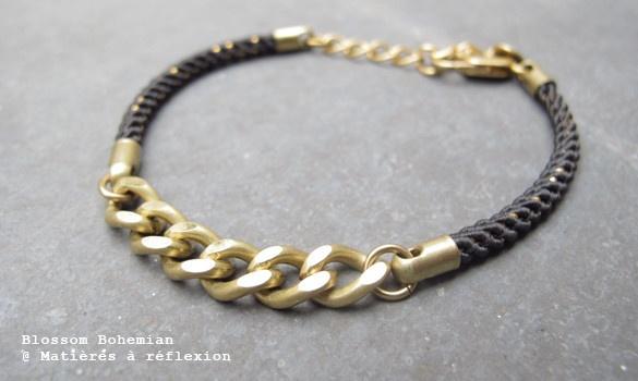 ENCHAINED // Blossom Bohemian Gourmette bracelet @ Matières à réflexion