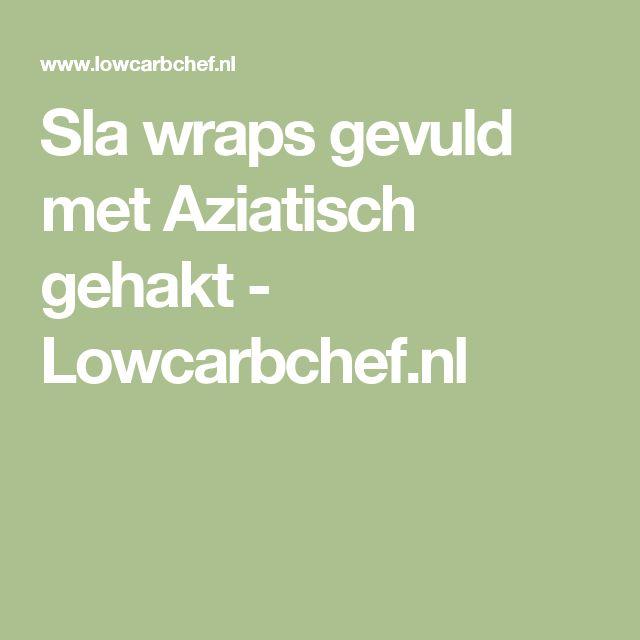 Sla wraps gevuld met Aziatisch gehakt - Lowcarbchef.nl
