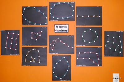 Tippytoe Crafts: Marshmallow Constellations