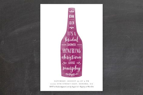 Winery Bridal Shower Invitations by Chryssi Tsoupanarias at minted.com