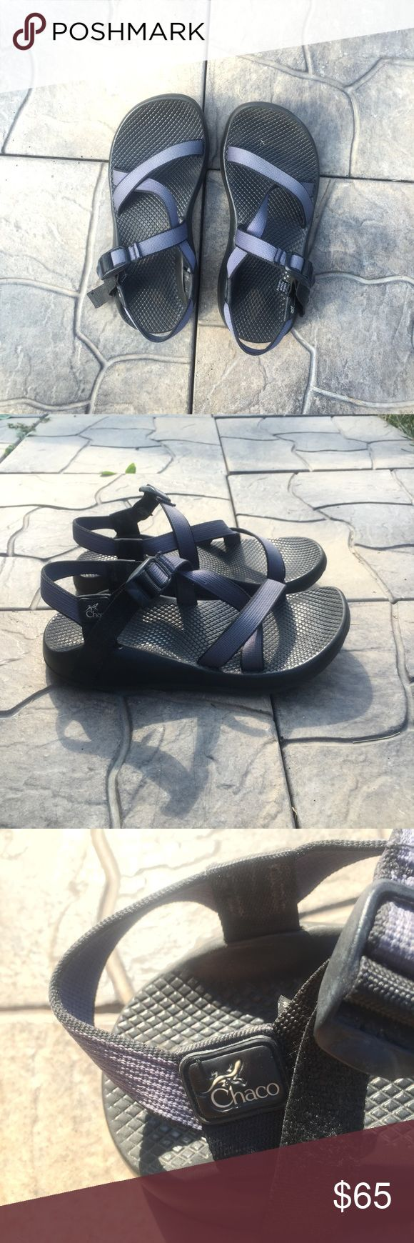 Grey and Black Chacos Amazing condition! Perfect for walking long distances or hiking. I got a new pair so I no longer need these. Feel free to make an offer! Chacos Shoes Sandals