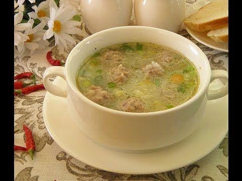 Вкусный рецепт. Суп с фрикадельками и рисом.