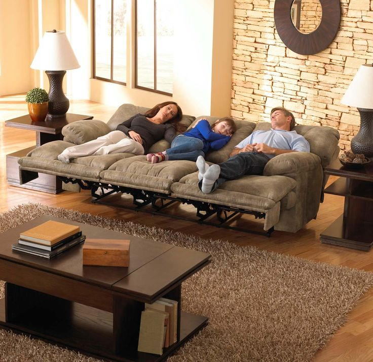 CatNapper Voyager Power Lay Flat Reclining Sofa - Brandy