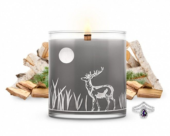 luxe midnight campfire jewelry candle jewelscent jewelry candles rh pinterest com Heart Candle Heart Candle