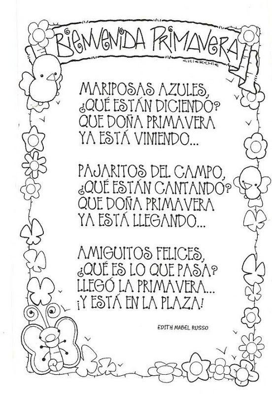 Poemas y rimas infantiles de la primavera para niños