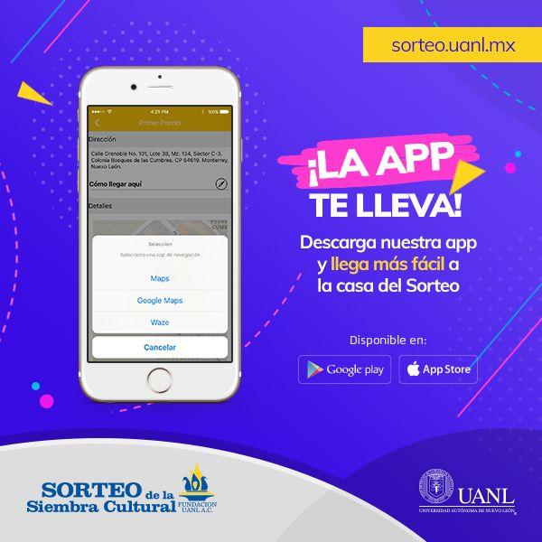 Nuestra aplicación móvil te lleva a la casa del primer premio. ¡Descárgala! Android (buff.ly/2toppGr) iOS (buff.ly/2touNZV).