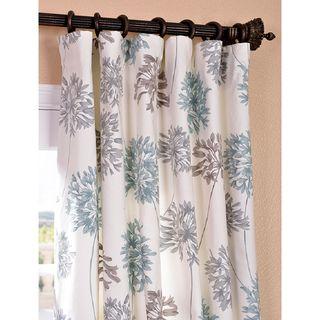 Allium Blue and Grey Printed Cotton Curtain Panel | Overstock.com