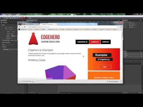 Adobe Edge Animate - Edge Hero Lesson 1 - 3d Objects - YouTube