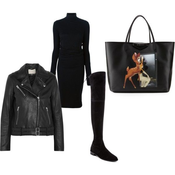 A fashion look from September 2015 by marenrygh featuring Rick Owens Lilies, IRO, Stuart Weitzman and Givenchy