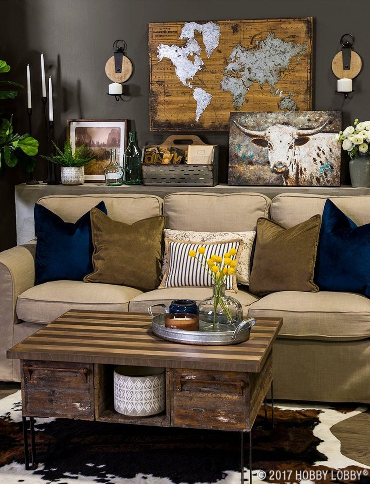 From Hobby Lobby Old World Meets Western Wander In This Eclectic Living E