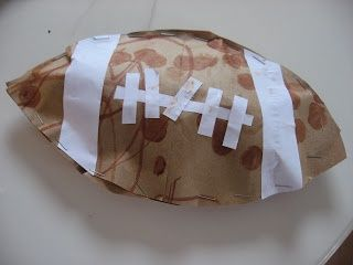 Easy Football Craft - great craft for Thanksgiving or any Fall | http://craftsandcreationsideas74.blogspot.com