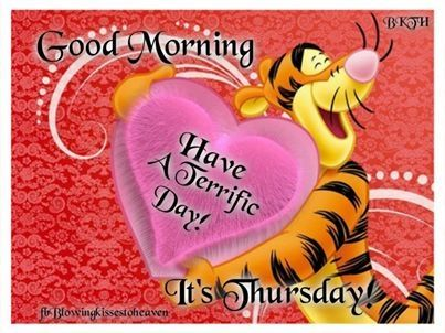 Its Thursday quotes quote morning days of the week tigger thursday thursday quotes